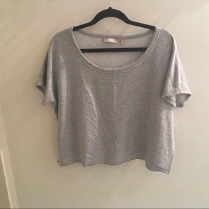 Athleta crop short sleeve sweatshirt